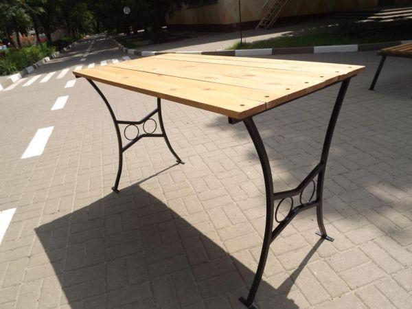 Металл стол для дачи своими руками